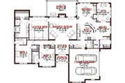 Traditional Style House Plan - 3 Beds 2.5 Baths 3309 Sq/Ft Plan #63-346 Floor Plan - Main Floor Plan
