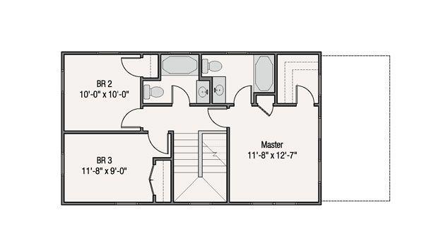 Craftsman Floor Plan - Upper Floor Plan #461-38