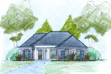 European Exterior - Front Elevation Plan #36-496