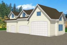 Traditional Exterior - Front Elevation Plan #117-366