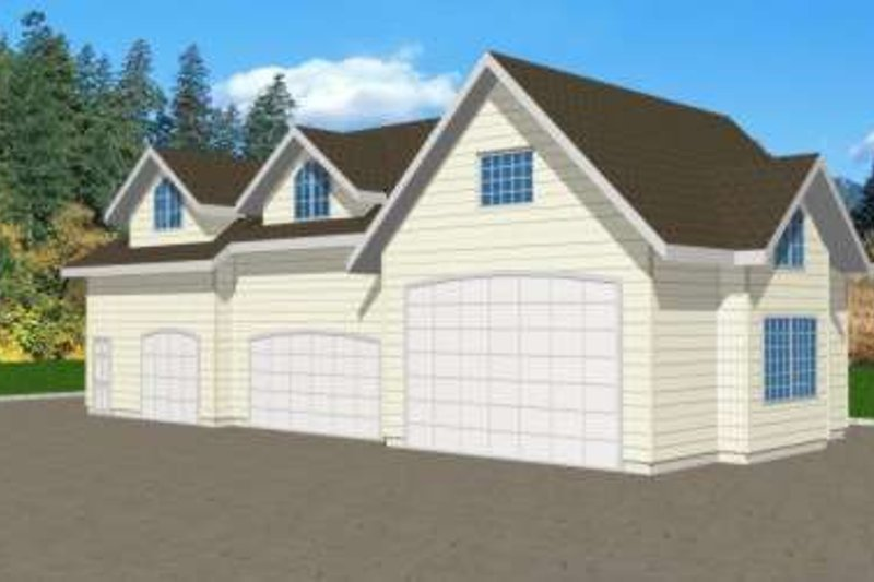 Home Plan - Traditional Exterior - Front Elevation Plan #117-366