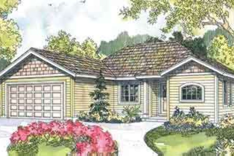 Ranch Exterior - Front Elevation Plan #124-548