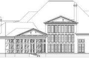 European Style House Plan - 4 Beds 4 Baths 5101 Sq/Ft Plan #119-199 Exterior - Rear Elevation