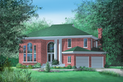 Traditional Style House Plan - 4 Beds 2.5 Baths 3250 Sq/Ft Plan #25-2109 Exterior - Front Elevation