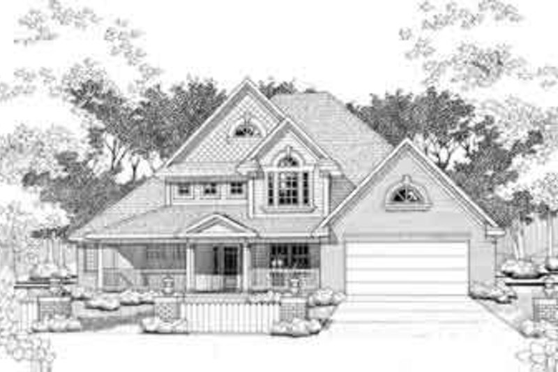 European Style House Plan - 3 Beds 3 Baths 2129 Sq/Ft Plan #120-131 Exterior - Front Elevation