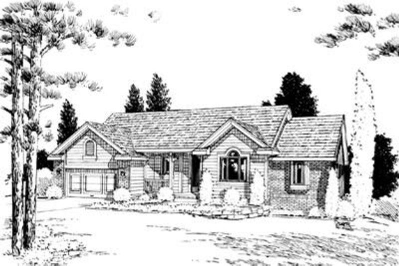 Traditional Exterior - Front Elevation Plan #20-555 - Houseplans.com