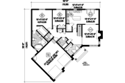 Country Style House Plan - 2 Beds 2 Baths 1553 Sq/Ft Plan #25-4657 Floor Plan - Main Floor Plan