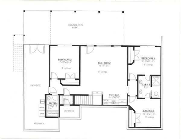 Dream House Plan - Farmhouse Floor Plan - Lower Floor Plan #437-126