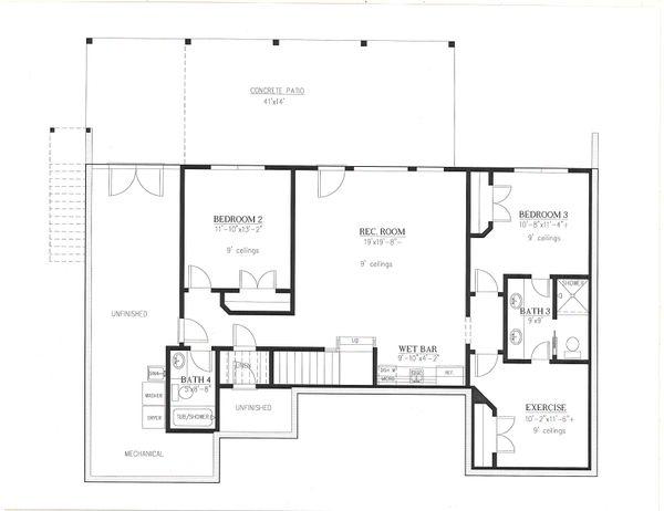 House Plan Design - Farmhouse Floor Plan - Lower Floor Plan #437-126