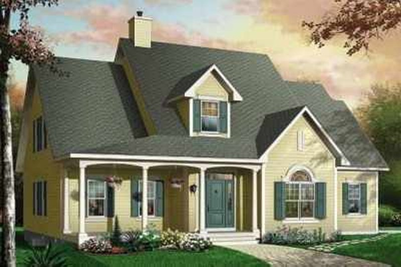 Country Exterior - Front Elevation Plan #23-396 - Houseplans.com