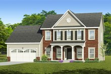 Colonial Exterior - Front Elevation Plan #1010-211