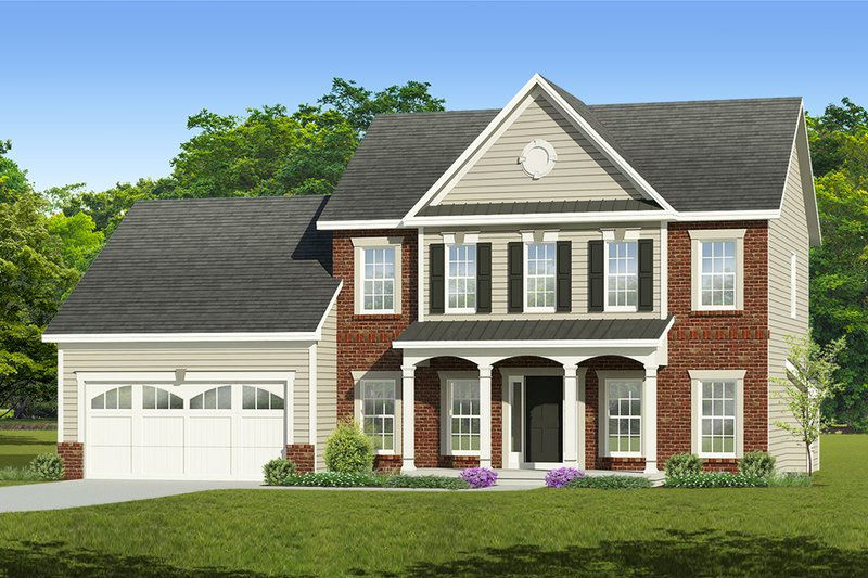 Home Plan - Colonial Exterior - Front Elevation Plan #1010-211