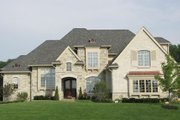 European Style House Plan - 5 Beds 6 Baths 6799 Sq/Ft Plan #458-4 Exterior - Front Elevation
