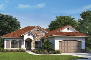 Mediterranean Exterior - Front Elevation Plan #938-73