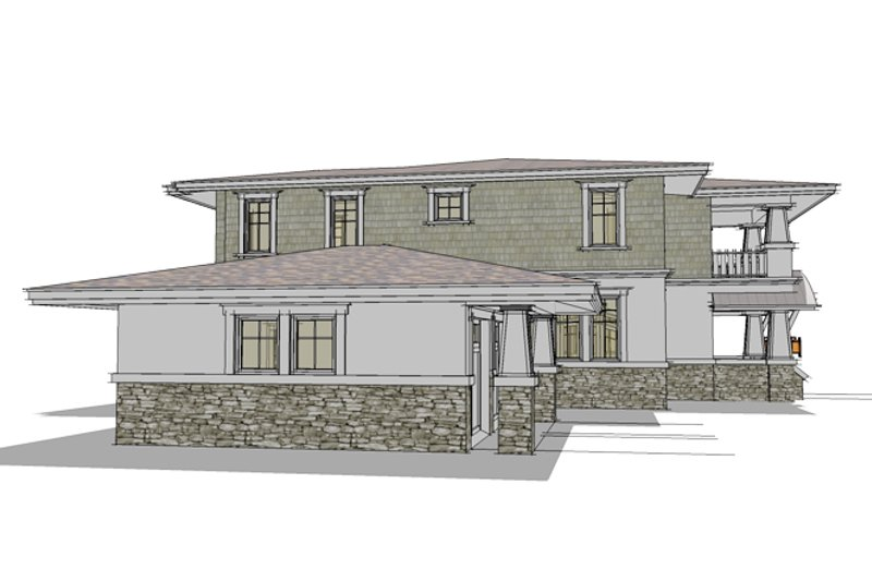 Traditional Exterior - Other Elevation Plan #64-269 - Houseplans.com