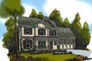 Craftsman Style House Plan - 3 Beds 2.5 Baths 1582 Sq/Ft Plan #419-190 Exterior - Front Elevation