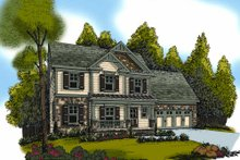 Craftsman Exterior - Front Elevation Plan #419-190