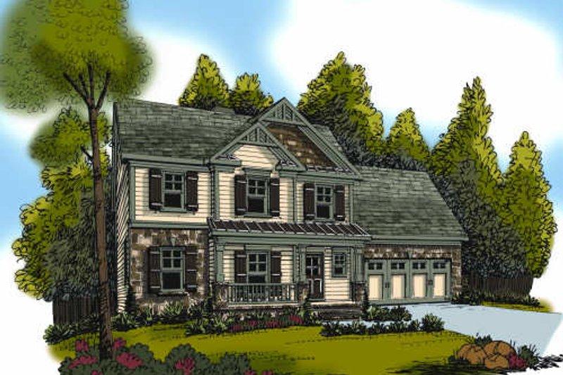 Home Plan - Craftsman Exterior - Front Elevation Plan #419-190