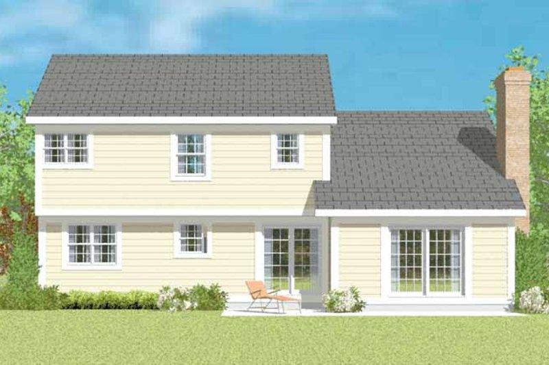 Colonial Exterior - Rear Elevation Plan #72-1077 - Houseplans.com