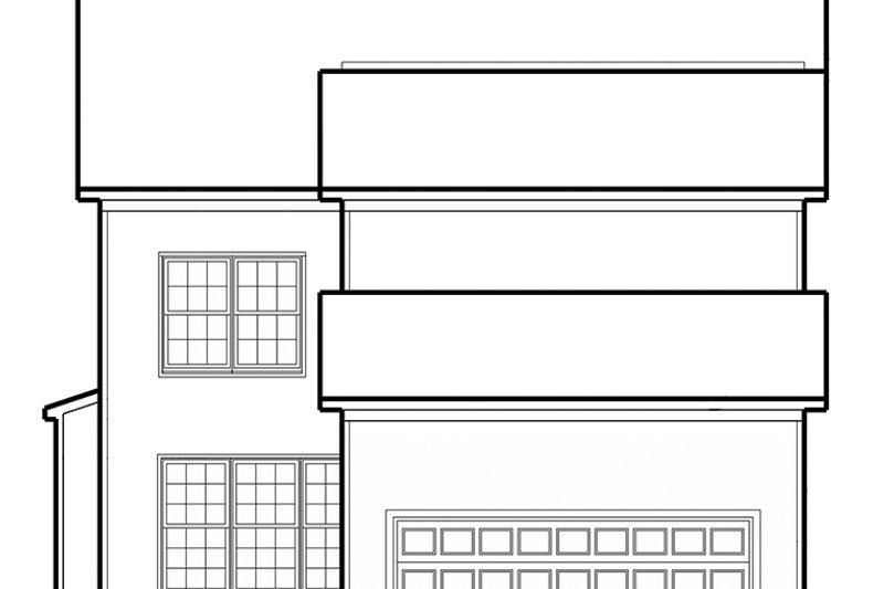 Colonial Exterior - Rear Elevation Plan #1053-73 - Houseplans.com