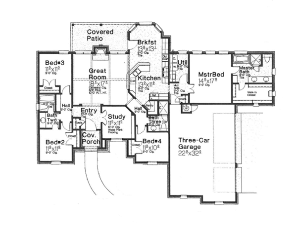 Dream House Plan - European Floor Plan - Main Floor Plan #310-1257