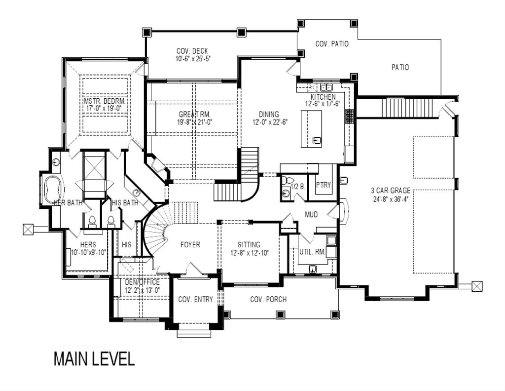 Craftsman Style House Plan - 8 Beds 7 Baths 8903 Sq/Ft Plan ...