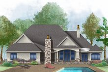 House Plan Design - European Exterior - Rear Elevation Plan #929-1008
