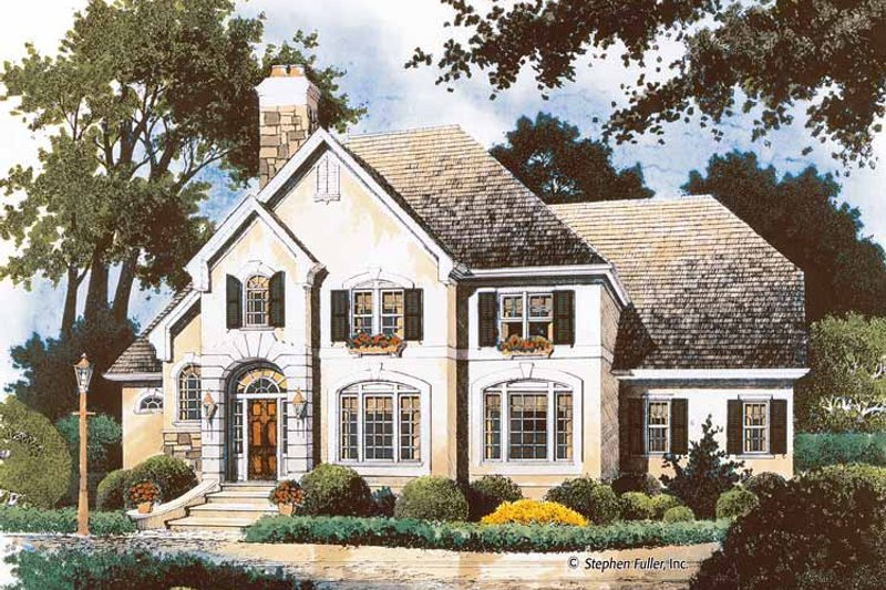 House Plan Design - Country Exterior - Front Elevation Plan #429-360
