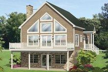 Dream House Plan - Cabin Exterior - Rear Elevation Plan #1010-148