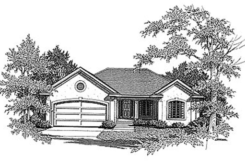 European Exterior - Front Elevation Plan #70-205