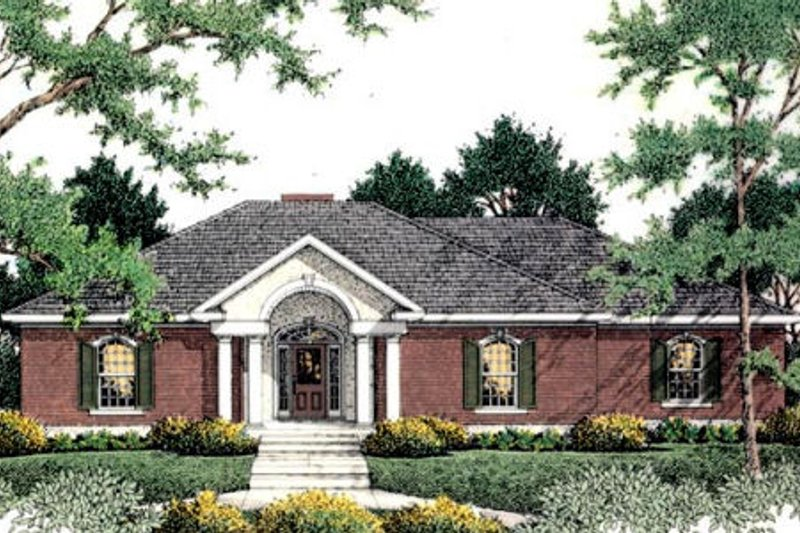 Southern Exterior - Front Elevation Plan #406-127 - Houseplans.com
