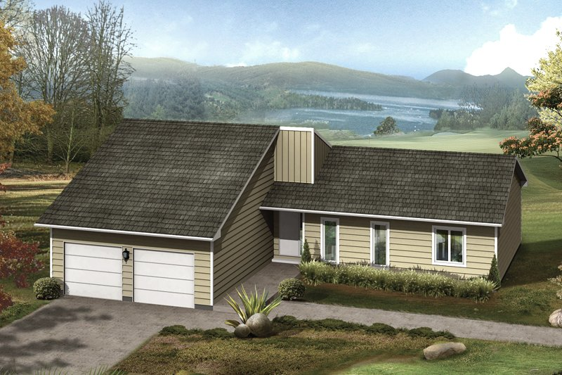 Dream House Plan - Ranch Exterior - Front Elevation Plan #57-674