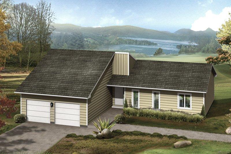 House Design - Ranch Exterior - Front Elevation Plan #57-674