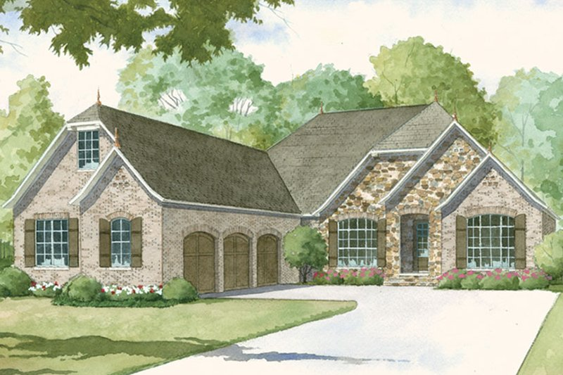 Country Exterior - Front Elevation Plan #17-3378