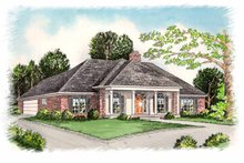 European Exterior - Front Elevation Plan #15-307