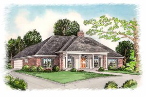 House Plan Design - European Exterior - Front Elevation Plan #15-307