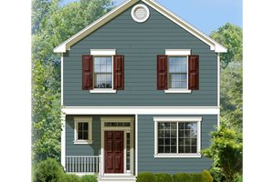 Dream House Plan - Colonial Exterior - Front Elevation Plan #1058-91