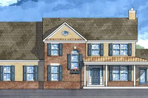 Dream House Plan - Country Exterior - Front Elevation Plan #1029-20
