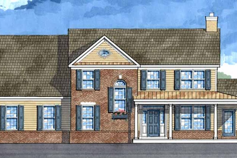 Country Exterior - Front Elevation Plan #1029-20
