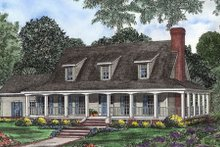 House Plan Design - Southern Exterior - Front Elevation Plan #17-546