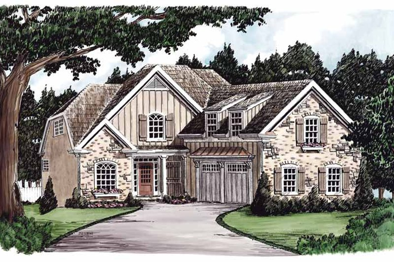 Home Plan - Colonial Exterior - Front Elevation Plan #927-588