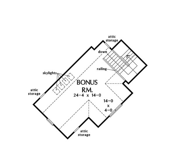 Craftsman Floor Plan - Other Floor Plan Plan #929-962