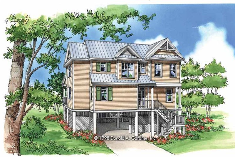 Dream House Plan - Craftsman Exterior - Front Elevation Plan #929-419