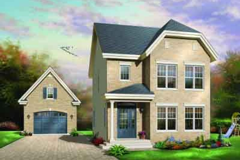 Traditional Exterior - Front Elevation Plan #23-555 - Houseplans.com