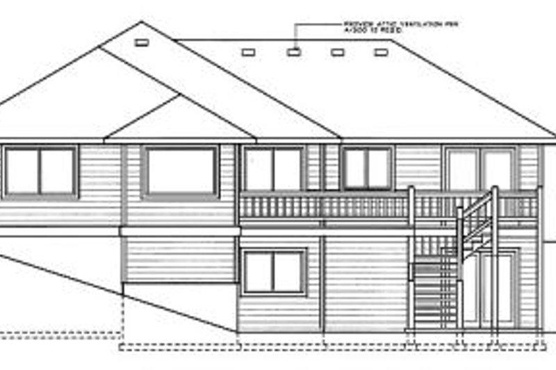 Traditional Exterior - Rear Elevation Plan #90-102 - Houseplans.com
