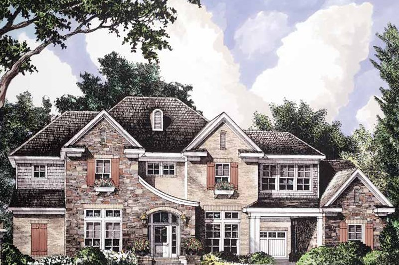 Country Exterior - Front Elevation Plan #952-192 - Houseplans.com
