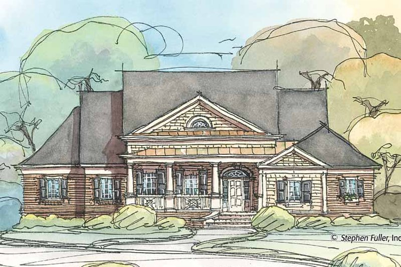 Colonial Exterior - Front Elevation Plan #429-412 - Houseplans.com