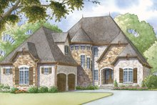 Home Plan - European Exterior - Front Elevation Plan #17-3372