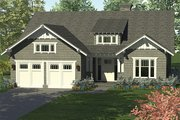 Craftsman Style House Plan - 4 Beds 3 Baths 2519 Sq/Ft Plan #453-614 Exterior - Front Elevation