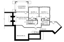 European Floor Plan - Lower Floor Plan Plan #453-635